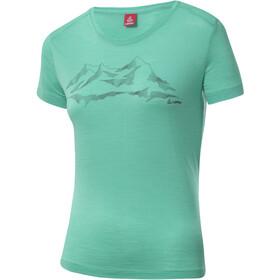 Löffler T-shirt à motif Merino Femme, mint